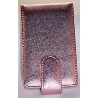 Metallic Baby Pink Pouch