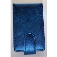 Metallic Blue Pouch